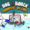 Bob and Bobek Shooting on Goal